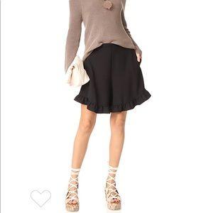 See By Chloe Black Ruffle Shorts With Pockets